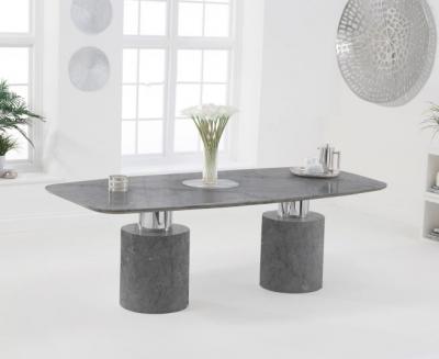 Mark Harris Adeline 220cm Grey Marble Dining Table
