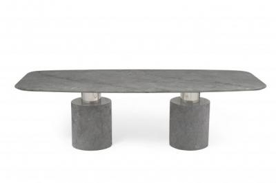 Mark Harris Adeline 260cm Grey Marble Dining Table