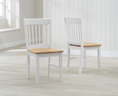 Mark Harris Alaska Dining Chairs (Pair) - Oak and Grey