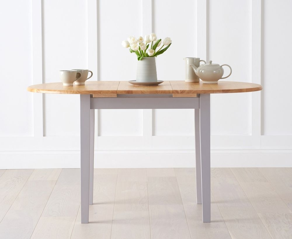 Buy mark harris alaska oak and grey dining table 107cm for Furniture markup