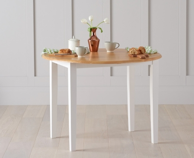 Mark Harris Alaska Butterfly Extending Dining Table - Oak and White