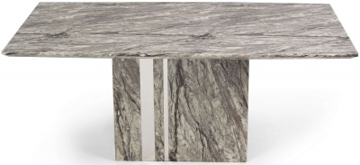 Mark Harris Alice Grey Engineered Marble Dining Table