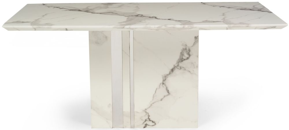Mark Harris Alice White Marble Dining Table