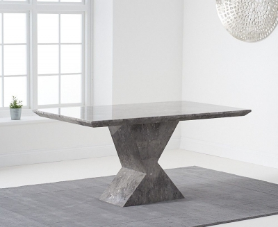 Mark Harris Allen Grey Engineered Marble 160cm Dining Table