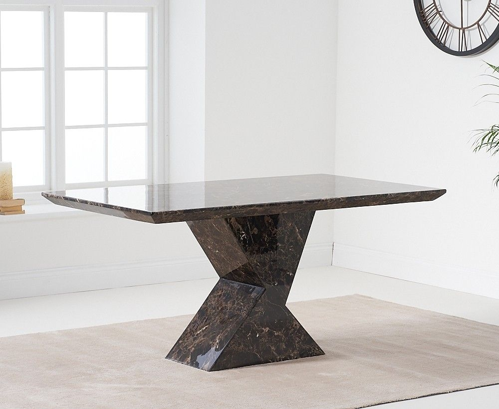 Mark Harris Allen Brown Marble 160cm Dining Table