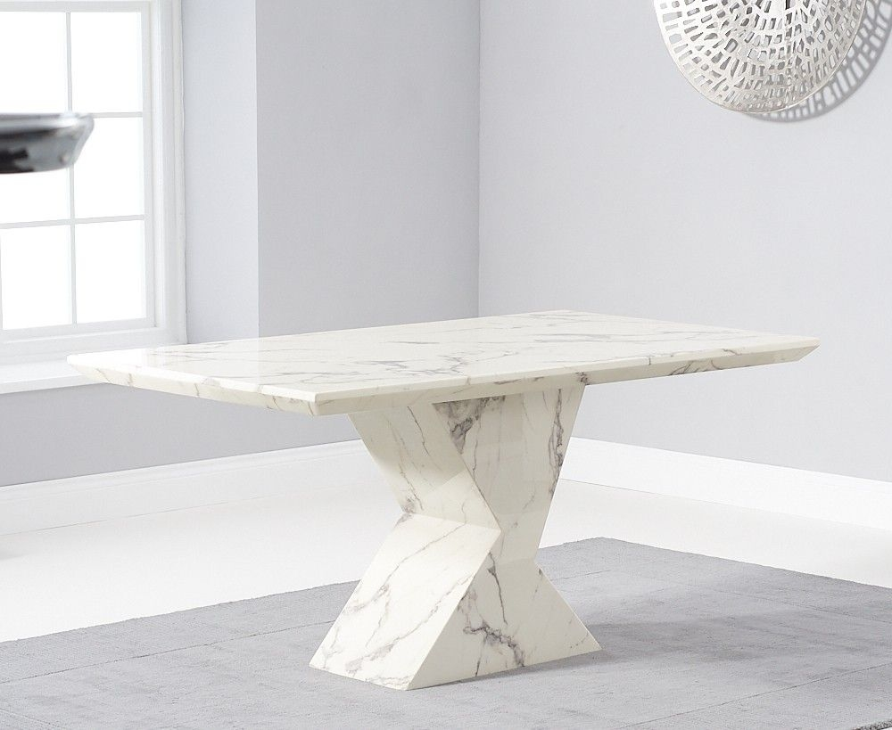Mark Harris Allen White Marble 160cm Dining Table