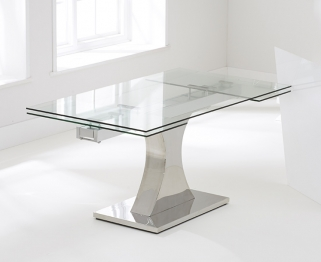 Mark Harris Amber 160cm Glass Extending Dining Table