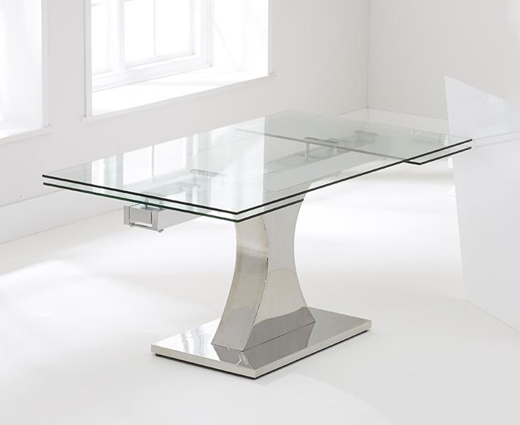 Mark Harris Amber 160cm Glass Extending Dining Table