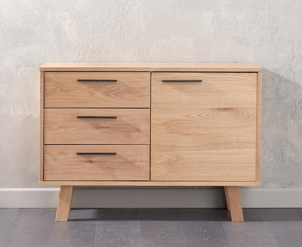 Mark Harris Anneli Oak Sideboard - Narrow Small 1 Door 3 Drawers