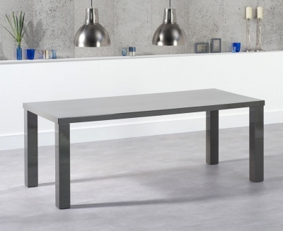 Mark Harris Ava Dark Grey High Gloss Large Dining Table