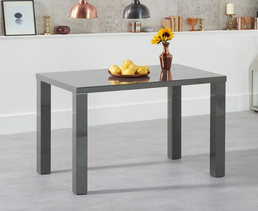 buy mark harris ava dark grey high gloss dining table. Black Bedroom Furniture Sets. Home Design Ideas