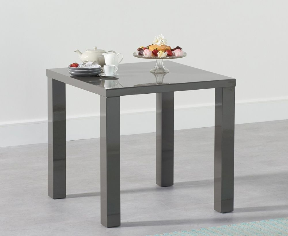 Mark Harris Ava Dark Grey High Gloss Dining Table - 80cm Square