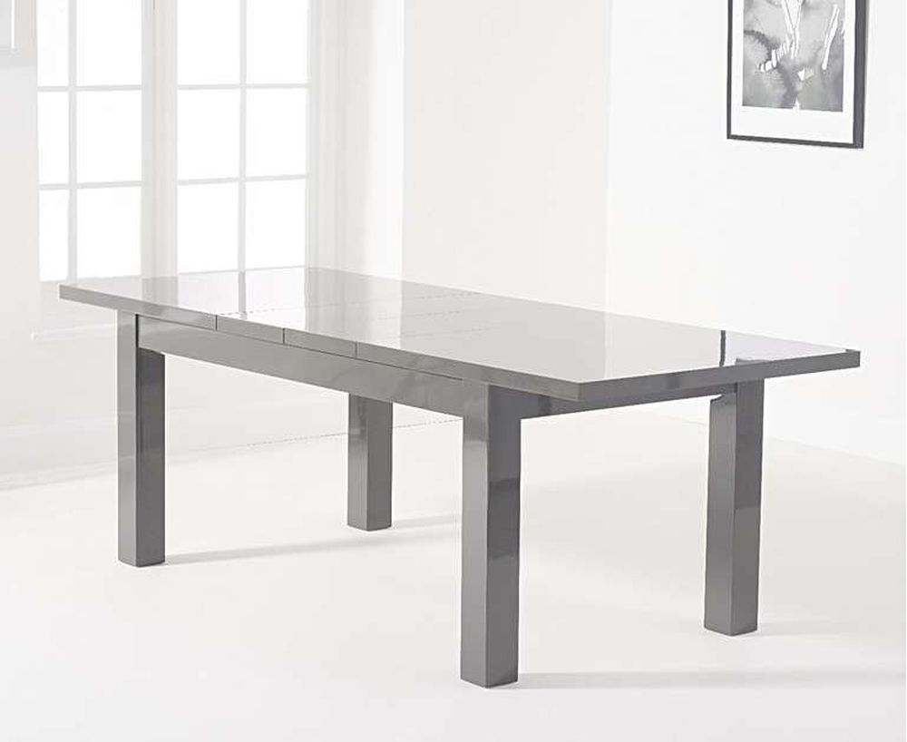 Mark Harris Ava Dark Grey High Gloss Extending Dining Table