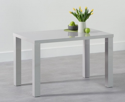 Mark Harris Ava Light Grey High Gloss Small Dining Table