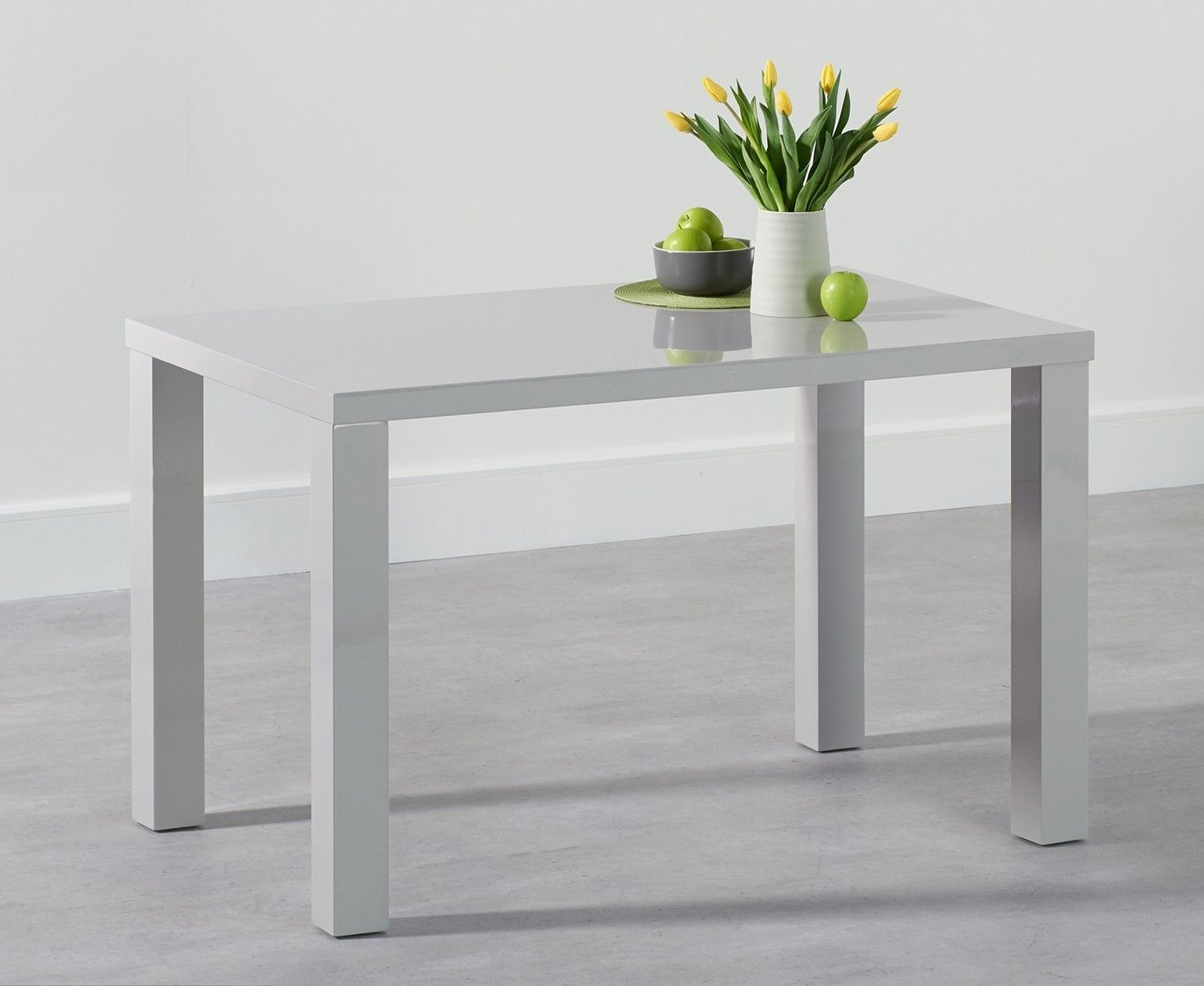 Mark Harris Ava Light Grey High Gloss Dining Table - 160cm Rectangular