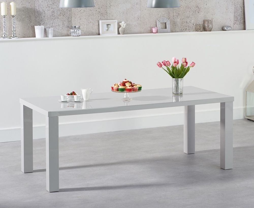 Mark Harris Ava Light Grey High Gloss Large Dining Table