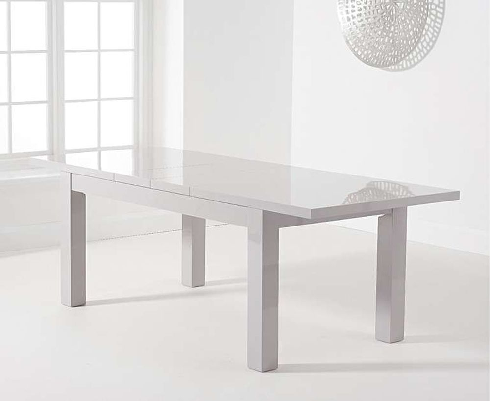 Mark Harris Ava Light Grey High Gloss Extending Dining Table