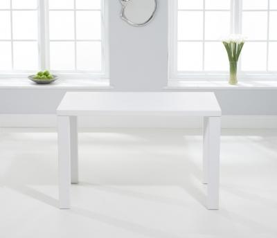 Mark Harris Ava Matt White 120cm Dining Table
