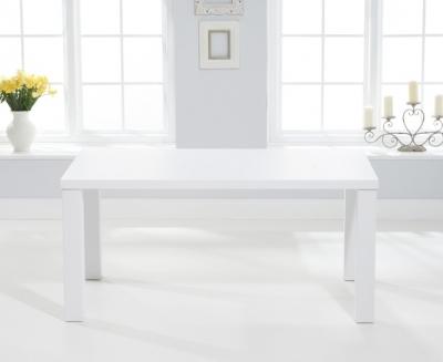 Mark Harris Ava Matt White 160cm Dining Table