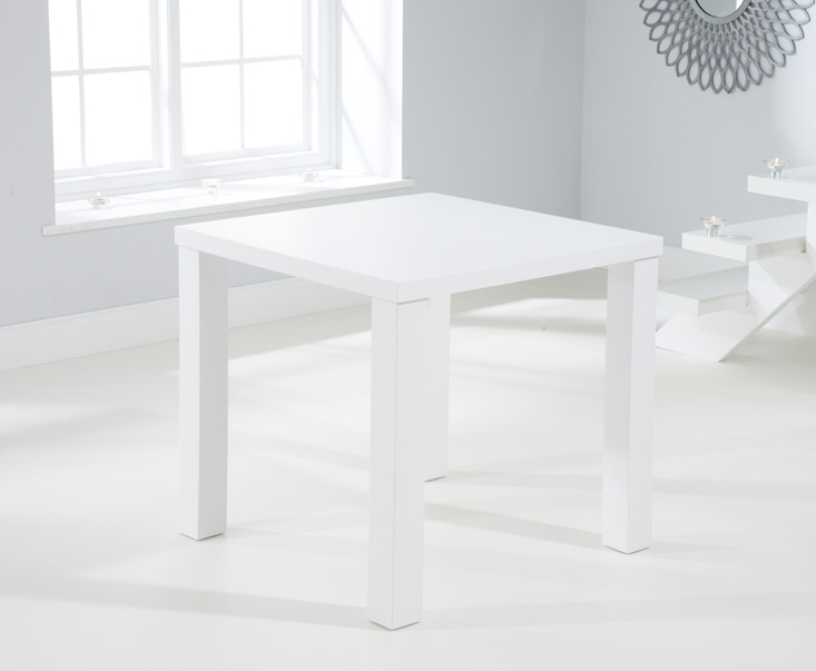 Mark Harris Ava Matt White Dining Table - 80cm