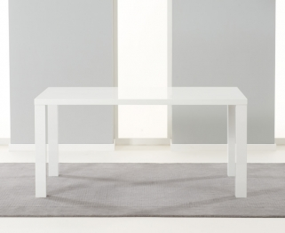 Mark Harris Ava White High Gloss 160cm Dining Table