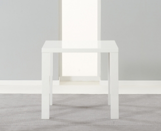 Mark Harris Ava White High Gloss Dining Table - 80cm