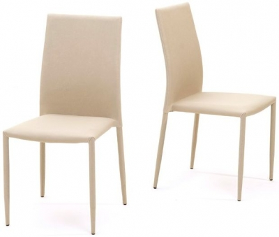 Mark Harris Ava Beige Stackable Dining Chair (Pair)