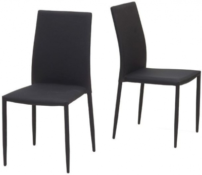 Mark Harris Ava Black Stackable Dining Chair (Pair)