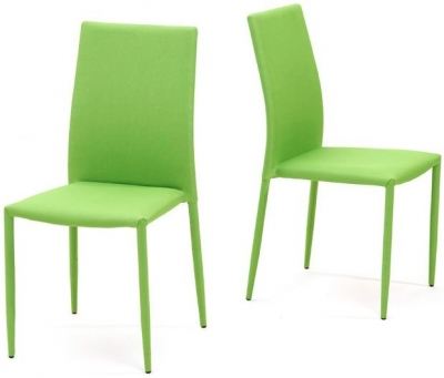 Mark Harris Ava Green Stackable Dining Chair (Pair)