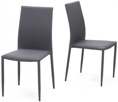 Mark Harris Ava Grey Stackable Dining Chair (Pair)