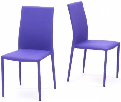 Mark Harris Ava Purple Stackable Dining Chair (Pair)