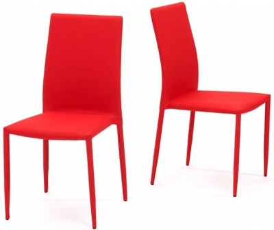Mark Harris Ava Red Stackable Dining Chair (Pair)