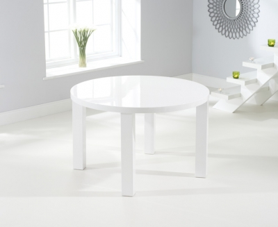 Mark Harris Ava White High Gloss Round Dining Table