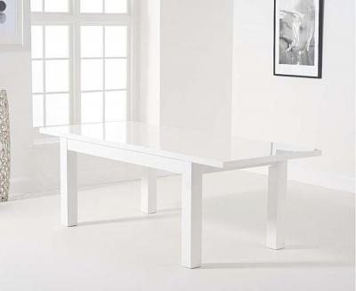 Mark Harris Ava White High Gloss Extending Dining Table