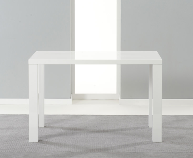 Mark Harris Ava White High Gloss Dining Table - 120cm