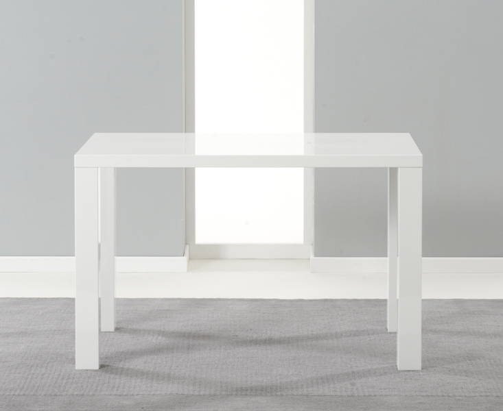 Mark Harris Ava White High Gloss Dining Table - 120cm Rectangular