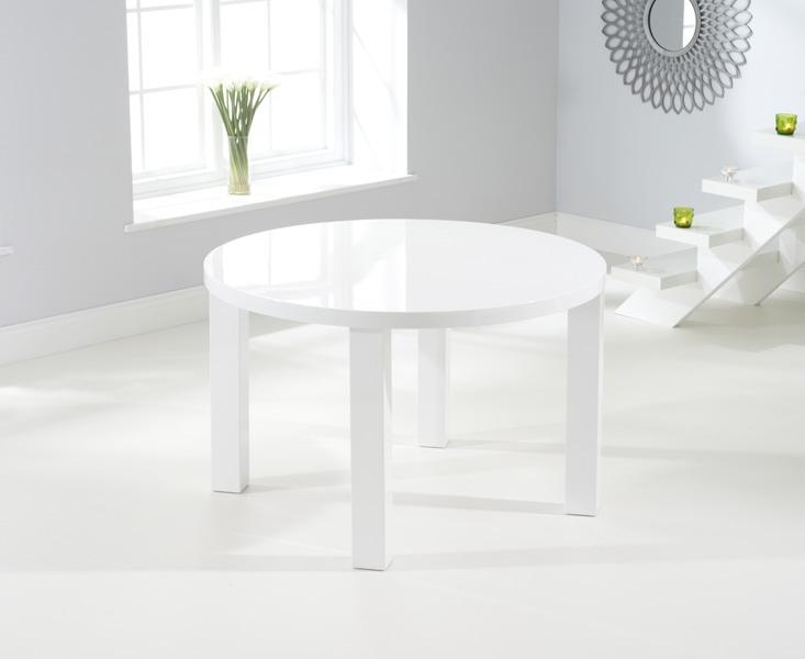 Mark Harris Ava White High Gloss 120cm Round Dining Table
