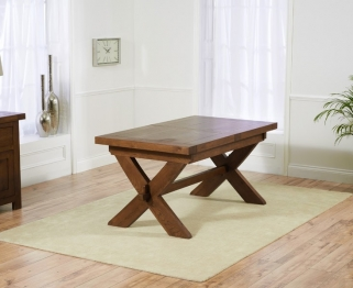 Mark Harris Avignon Solid Dark Oak 160cm Extending Dining Table