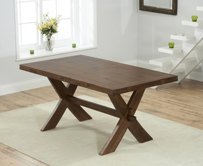 Mark Harris Avignon Solid Dark Oak 165cm Extending Dining Set