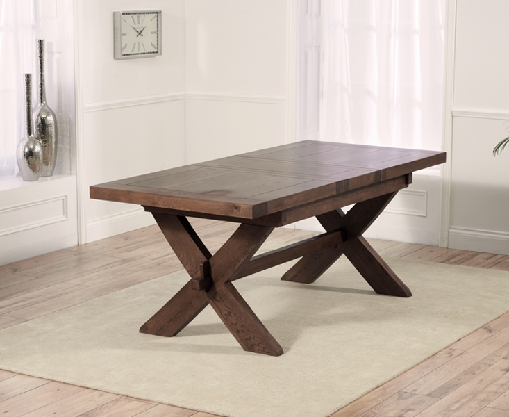 Mark Harris Avignon Solid Dark Oak Dining Table - 160cm Rectangular Extending