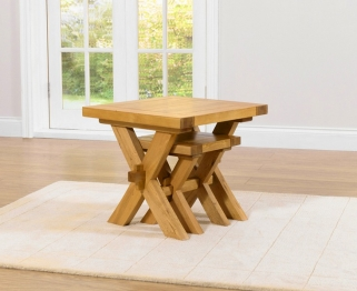 Mark Harris Avignon Solid Oak Nest of Tables