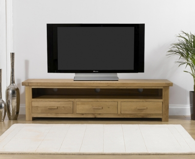 Mark Harris Avignon Solid Oak TV Unit - Large
