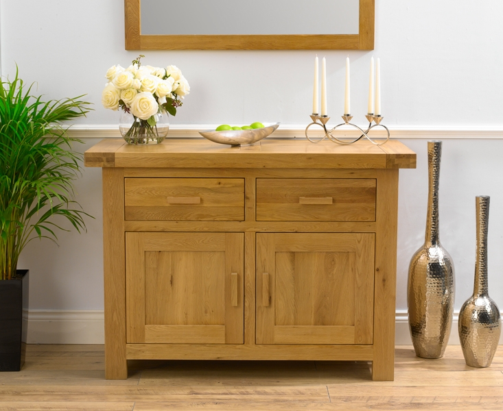 Mark Harris Avignon Solid Oak 2 Door 2 Drawer Narrow Sideboard - 120cm
