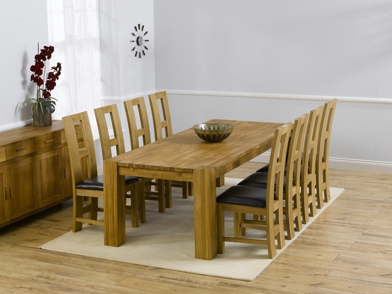 Mark Harris Barcelona Solid Oak Dining Set - 200cm with 4 John Louis Brown Chair