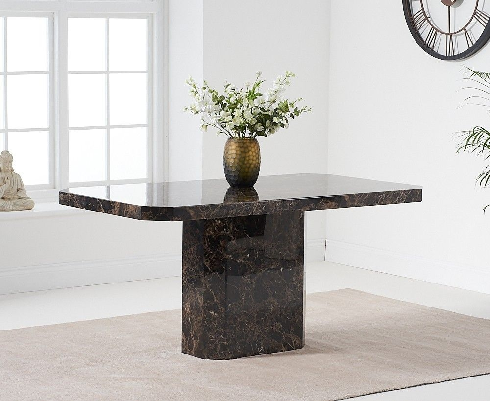 Mark Harris Becca Brown Marble 160cm Dining Table