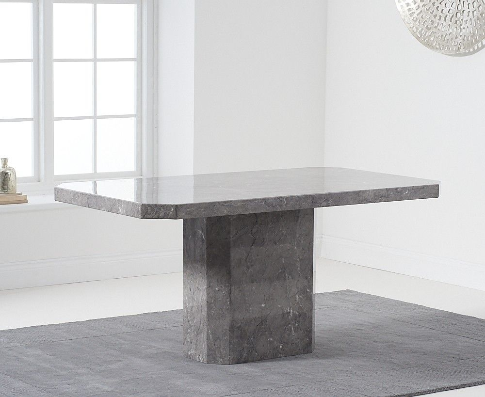 Mark Harris Becca Grey Marble 160cm Dining Table