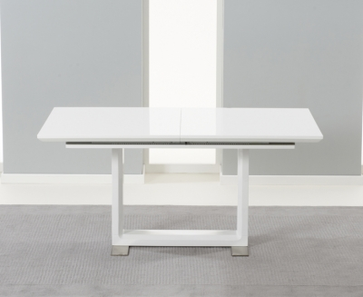 Mark Harris Beckley White High Gloss Extending Dining Table