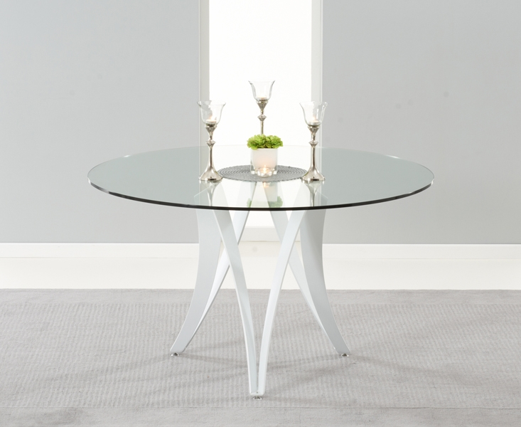 Mark Harris Bellevue White High Gloss Dining Table - 130cm Round