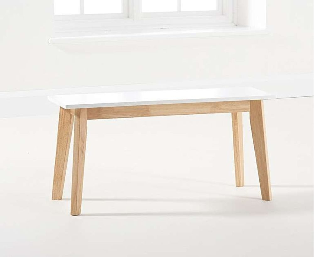 Mark Harris Marcham Dining Bench - White and Oak