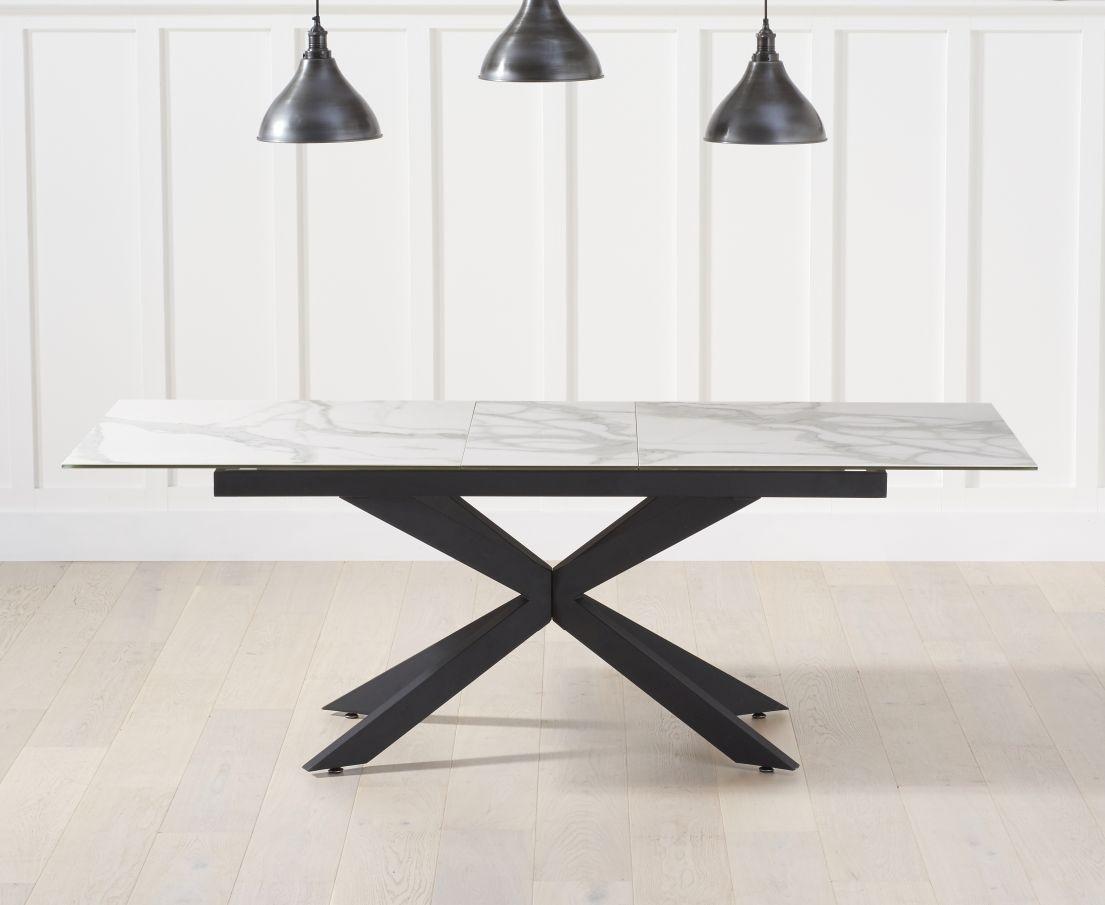 Mark Harris Britolli Extending Dining Table White Ceramic Cfs Furniture Uk